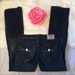 True Religion Billy Blue Jeans Distressed EUC